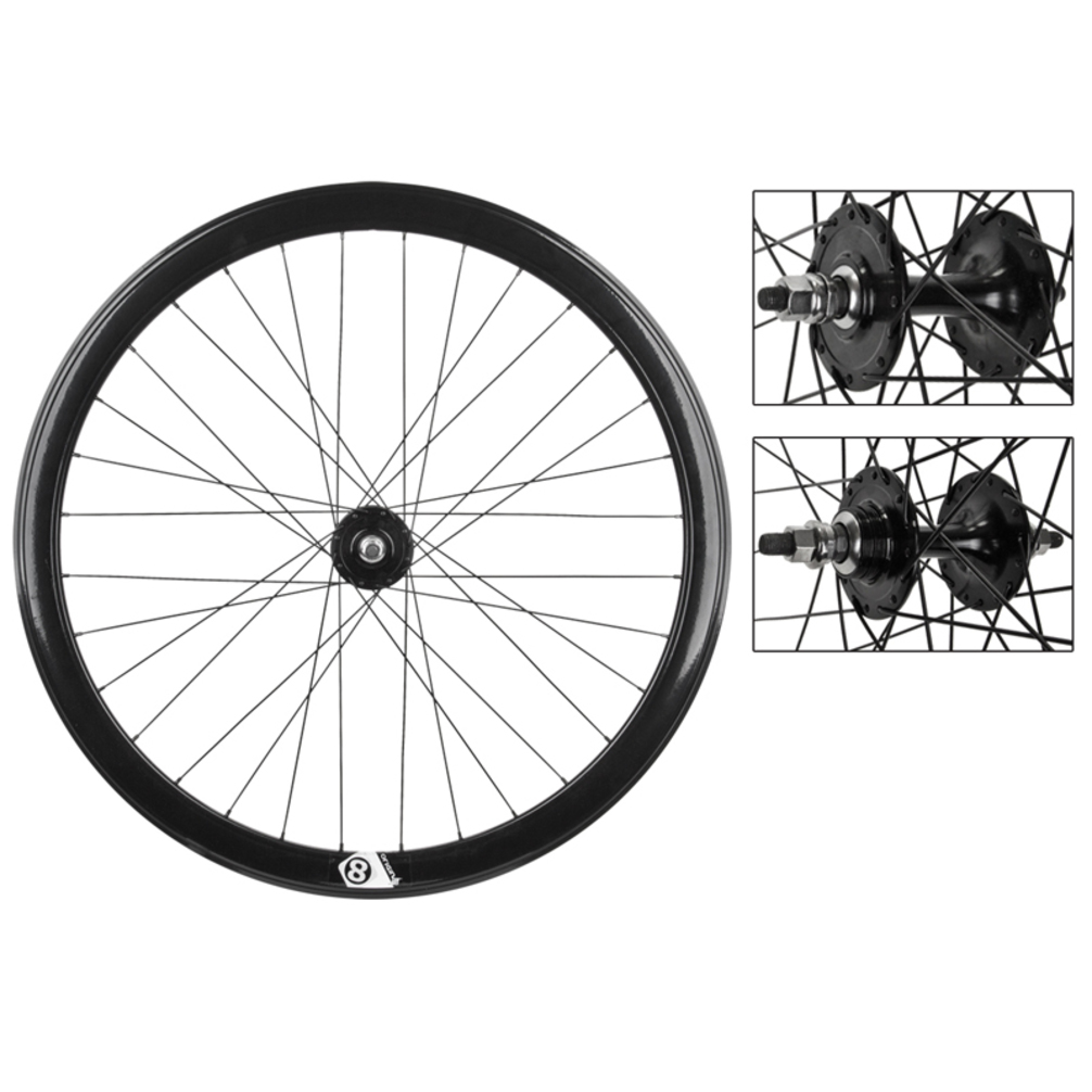 Origin8 700c Wheelset 42mm NMSW 32 Origin8 Fx/Fx Black