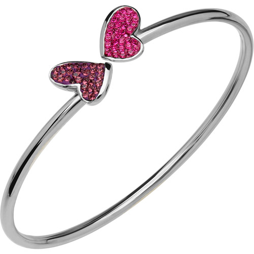 Luminesse Swarovski Element Sterling Silver Butterfly Bangle
