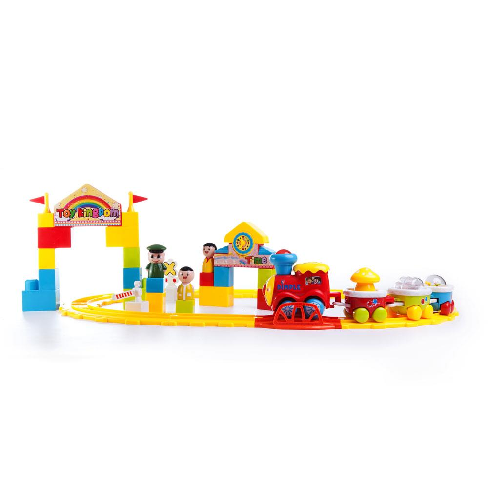 Matashi 39 Piece Battery Operated Train Set Including 4 Connectable Train Cars, 3 Figurines, 2 Stations and... by Dimple