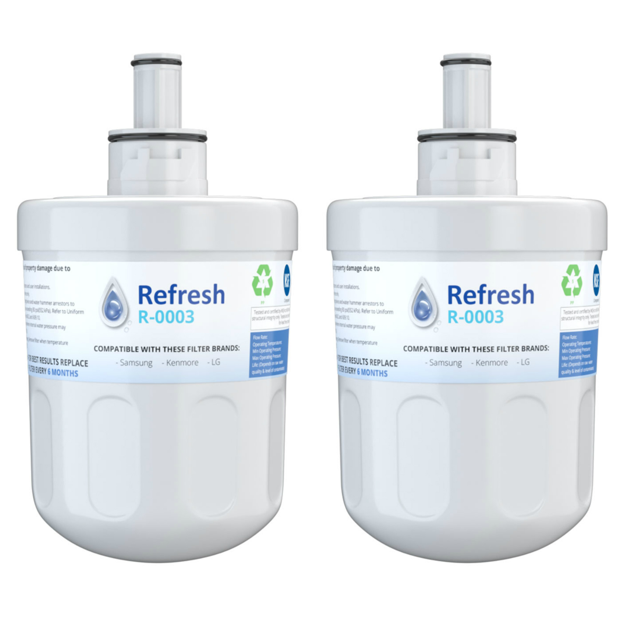 3 Pack Replacement Water Filter for Samsung RS2534WW Refrigerators