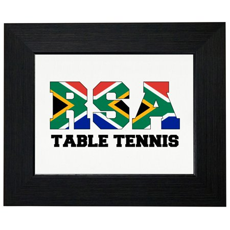 South Africa Table Tennis - Olympic Games - Rio - Flag Framed Print Poster Wall or Desk Mount Options African Game Table