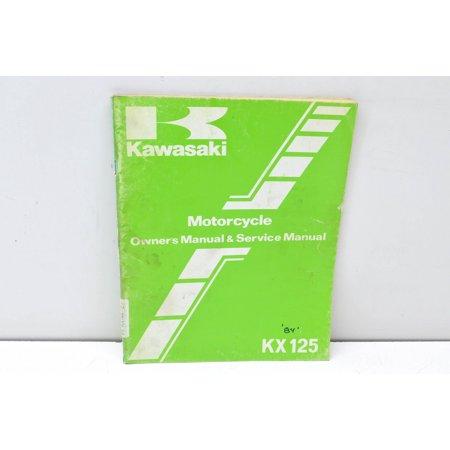 Kawasaki 99920-1248-01 KX125 Motorcycle Owner's Manual & Service Manual QTY 1