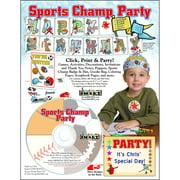 ScrapSMART Sports Champ Party CD-ROM: Basketball, Baseball, Soccer, Football and Hockey