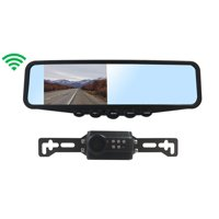 Tadibrothers Digital Wireless License Plate Backup Camera with Clip On Mirror