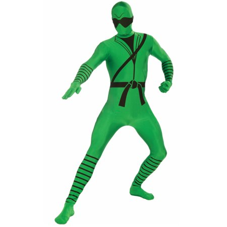 Child's Full Body I'm Invisible Disappearing Man Green Ninja Costume (Green Ninja Costume)