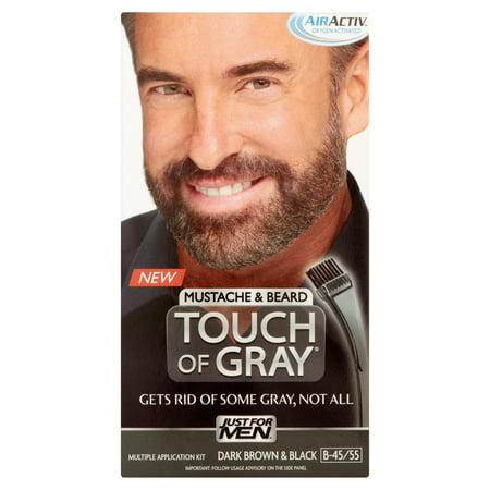 Just for Men Touch of Gray Mustache & Beard B-45/55 Dark Brown ...
