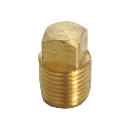 JMF 4505020 0.75 in. Square Head Cored Pipe Plug in Lead Free Yellow Brass - pack of 2 - image 1 of 1