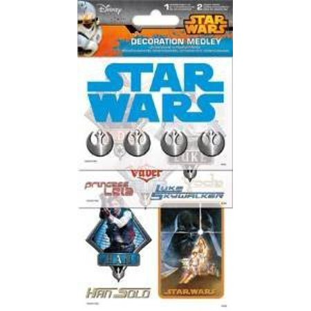 Sticker Decoration Medley - Star Wars  Games Toys Set Pack sc5072](Star Wars Table Decorations)