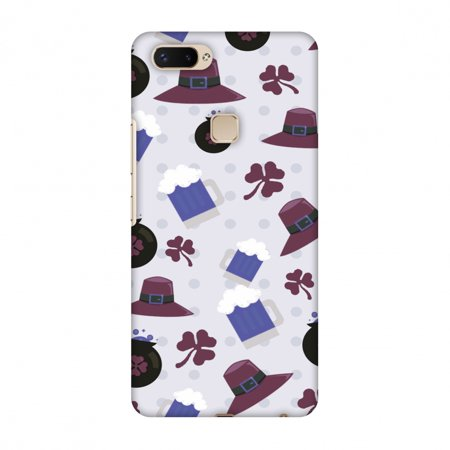 Vivo X20 Plus Case, Premium Handcrafted Printed Designer Hard Snap on Shell Case Back Cover with Screen Cleaning Kit for Vivo X20 Plus - Shamrock, Hats, Beer And Potluck - - Halloween Ideas For Potlucks