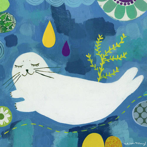 Oopsy Daisy - Super Seal Canvas Wall Art 14x14, Mati Rose McDonough