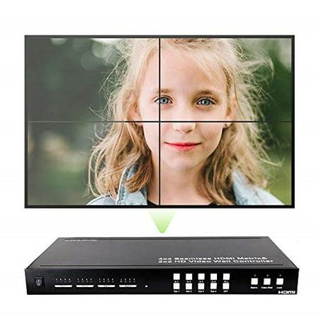 j-tech digital proav series seamless 4x4 hdmi matrix switch hdmi matrix selector switcher with four picture multiviewer 2x2 video wall