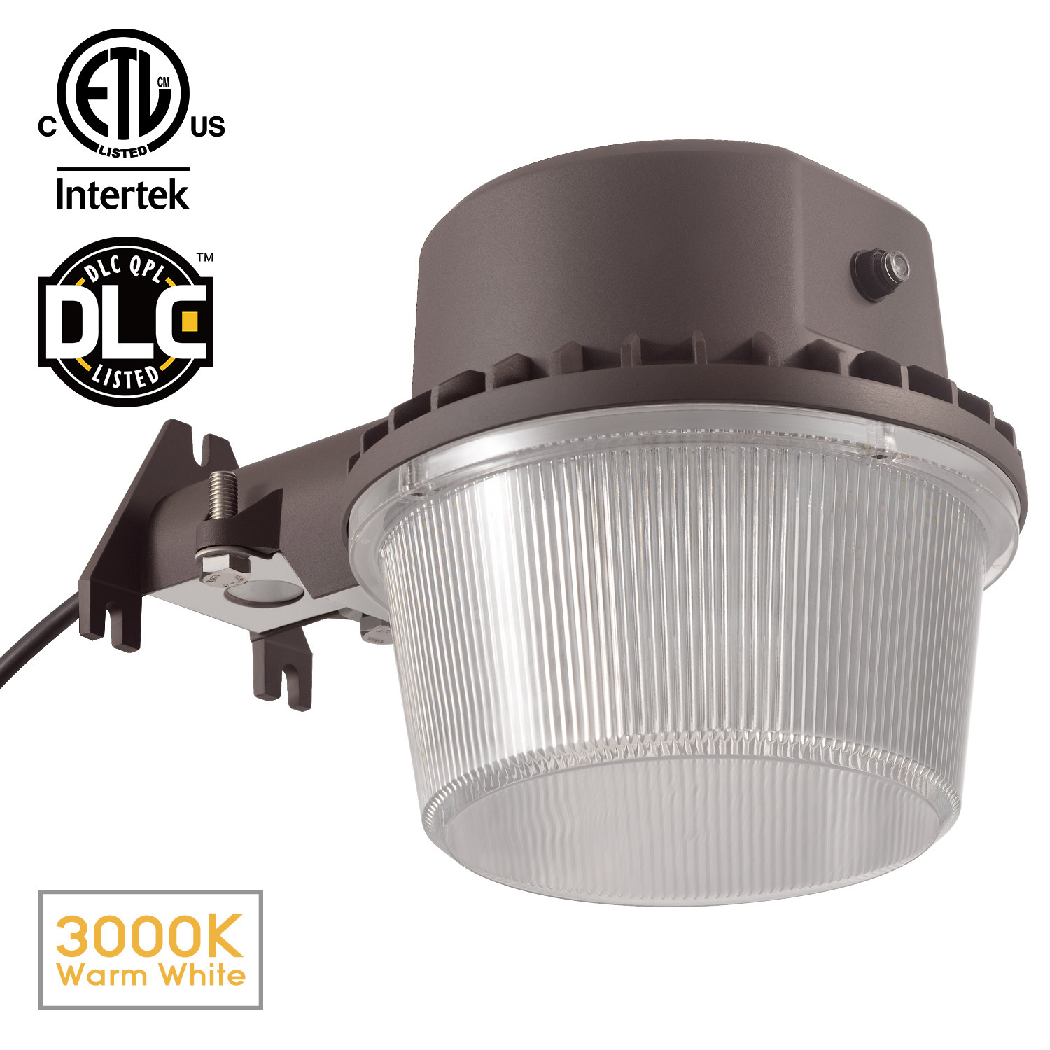 35w led outdoor barn light dusk to dawn photocell dlc u0026 etllisted