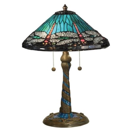 dale tiffany blue cone dragonfly table lamp. Black Bedroom Furniture Sets. Home Design Ideas