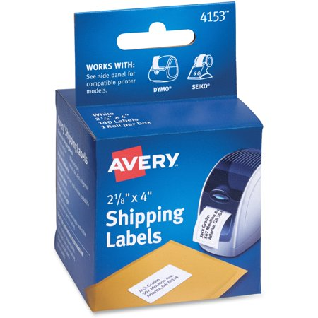 Avery Thermal Printer Shipping Labels, 2 1/8 x 4, White, 140/Roll, 1