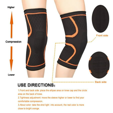 1 Pair Knee Compression Sleeves Warm Keeping Joint Injury Recovery Aid Arthritis Pain Relief Brace Sports Support Pads for Running,Hiking,Basketball,for Women Men
