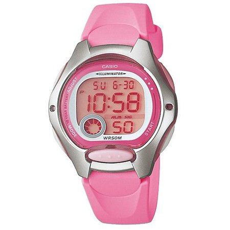 Casio LW200-4BV Women's Pink Resin Band Alarm Chronograph Digital Sports Watch