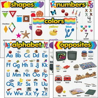 "Trend Kindergarten Basic Skills Learning Charts Combo Pack, 17"" x 22"""