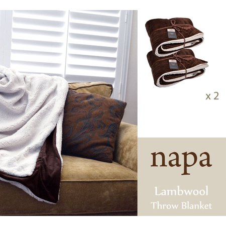 Napa Super Soft Cozy Sherpa Throw Blanket 50