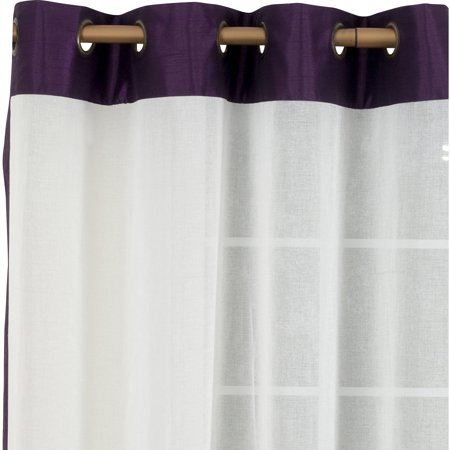 Belle Maison Soho Sheer Grommet Panel with Faux Silk Band