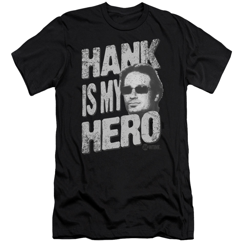 Californication/Hank Is My Hero   S/S Adult 30/1   Black     Sho225
