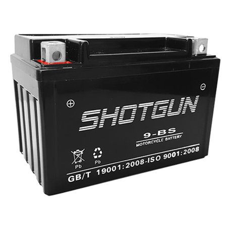 Shotgun 9-BS-SHOTGUN-014 YTX9-BS Battery for Hyosung 2013-12 GV250 Aquila 250CC SMF - 1 Year