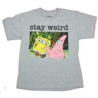 Spongebob Squarepants Mens T-Shirt- Stay Weird Patrick & Bob Image