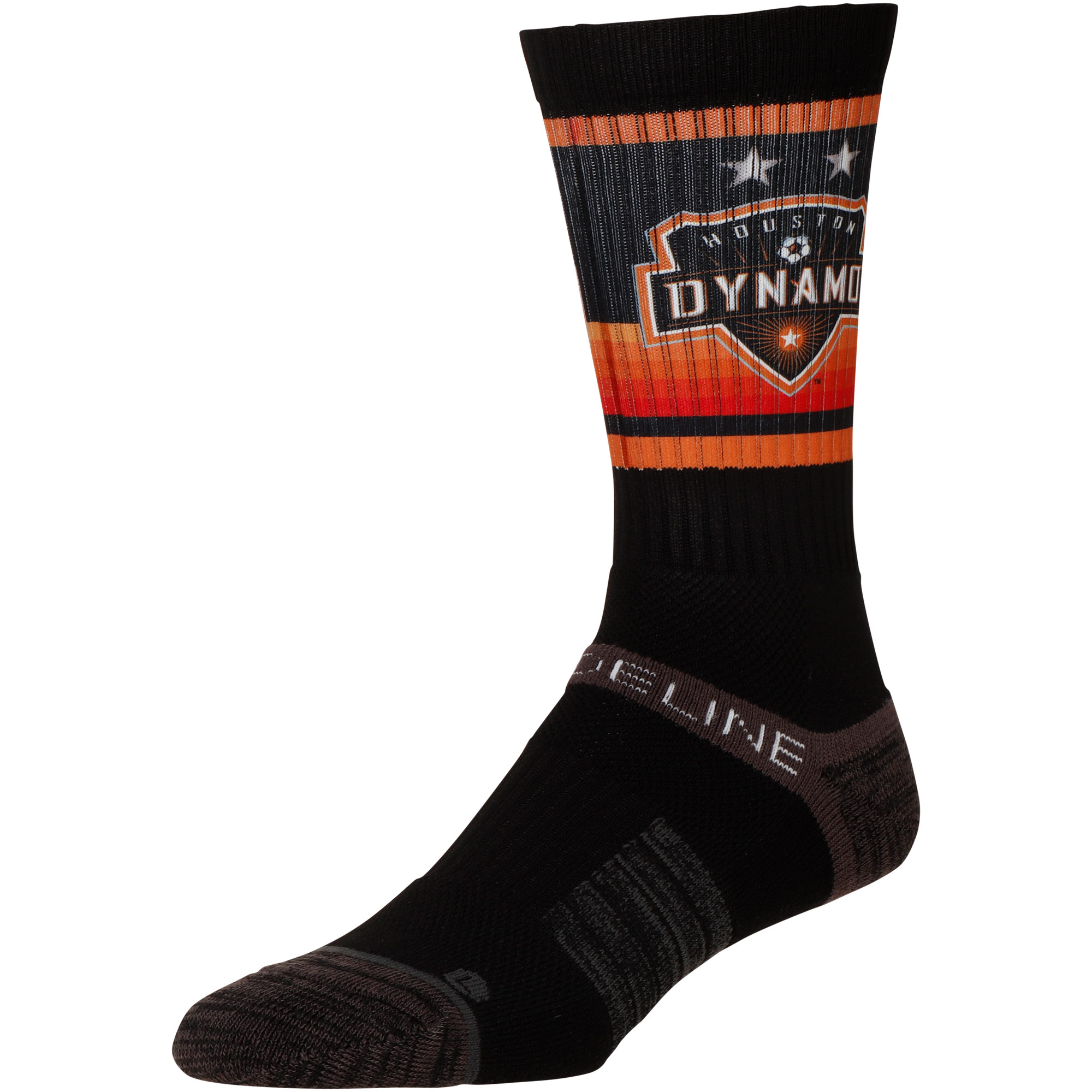 Houston Dynamo Team Primary Logo Crew Socks - Black - M/L