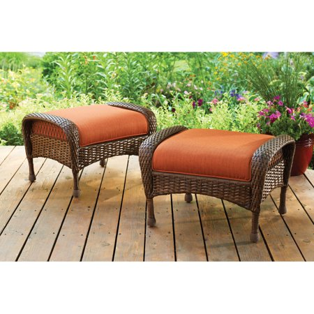 Magnificent Better Homes And Gardens Azalea Ridge Outdoor Ottomans Set Machost Co Dining Chair Design Ideas Machostcouk