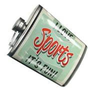 NEONBLOND Flask I Love Sports, Vintage design