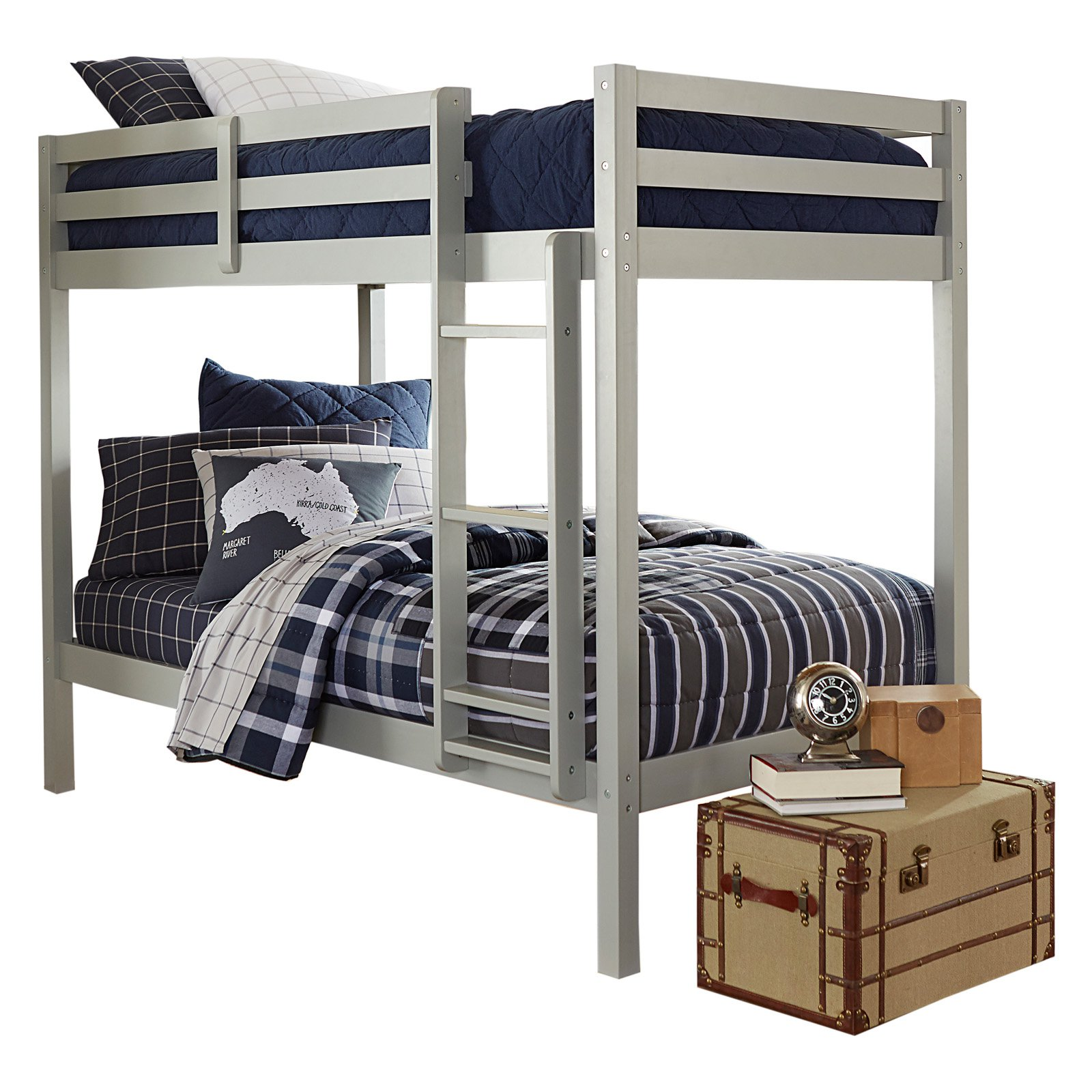Hillsdale Caspian Twin Over Twin Bunk Bed, Multiple Colors
