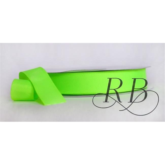 Ribbon Bazaar 5901 0.63 in. Neon Grosgrain Ribbon, Green - 50 Yards