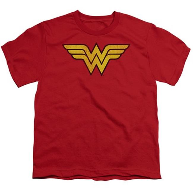 Dc-Wonder Woman Logo Dist - Short Sleeve Youth 18-1 Tee - Red, Large - image 1 of 1