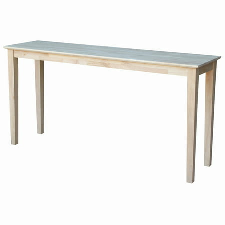 International Concepts Shaker Console Table, (Unfinished Mission Entry Table)