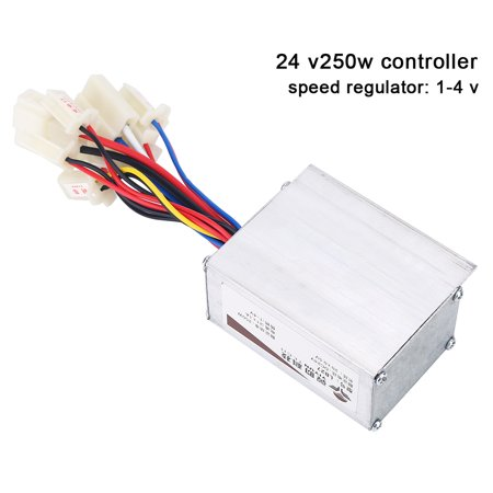 WALFRONT 24V 250W Motor Brushed Controller Box for Electric Bicycle Scooter E-bike, Brushed Motor Controller, Electric Bike Brushed