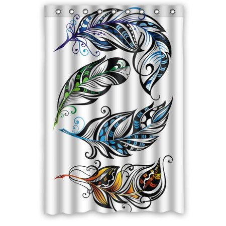 BPBOP Peacock Shower Curtain 48x72 Inches