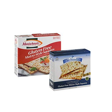 Popular Pesach Gluten Free Matzos Crackers, Kosher for Passover, (1) Yehuda Matzos, 10.5 Oz Box, Gluten Free Matzah and (1) Manischewitz Matzo, Gluten-Free 10 Oz, Low Calorie, Perfect for (Best Low Calorie Crackers)