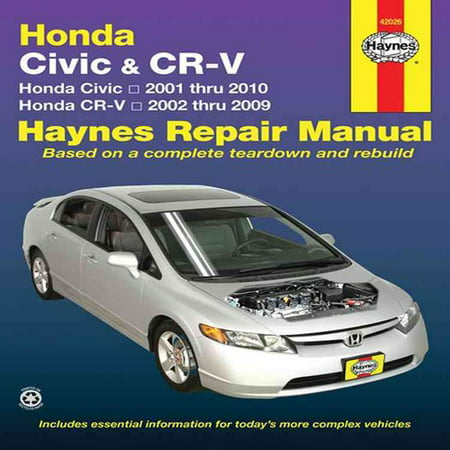 haynes repair manual honda civic cr v honda civic 2001