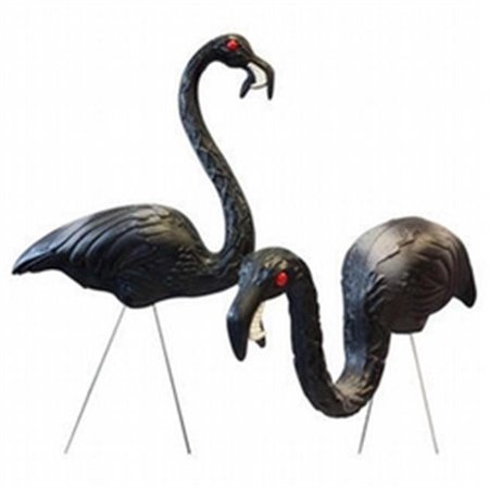 21 in - 32 in. Halloween Zombie Feeding Flamingo (2Set) - Halloween Zombie Yard