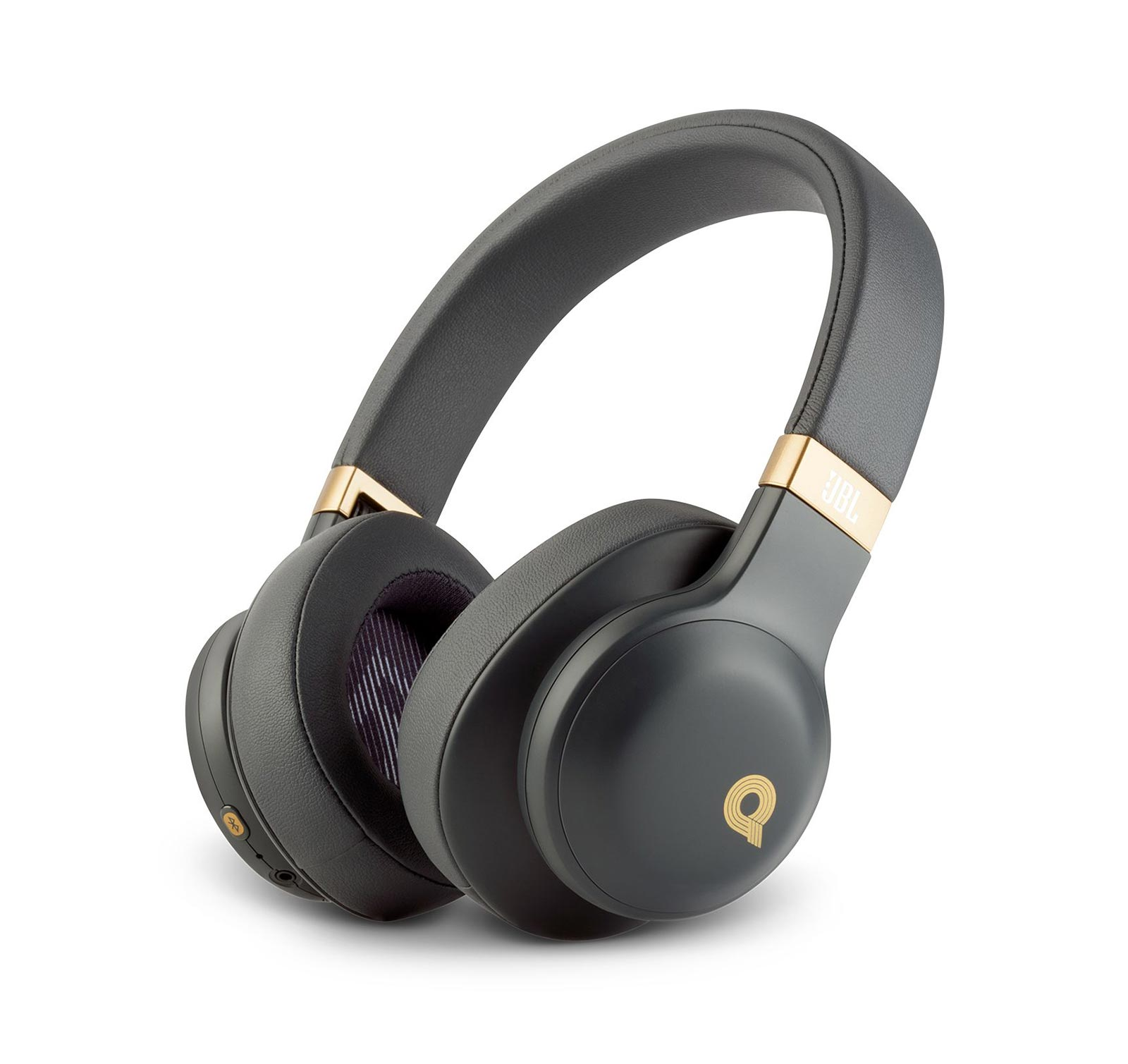 JBL E55BT Quincy Edition Wireless Over-Ear Headphones with One-Button Remote and Mic (Black Matte) by JBL