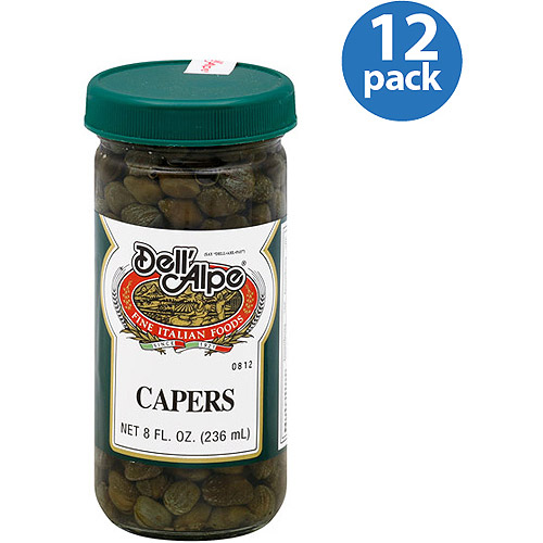 Dell' Alpe Capers, 8 fl oz (Pack of 12) by Generic