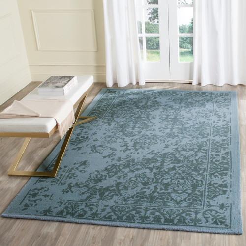 Safavieh Restoration Vintage 2' X 3' Handmade Wool Pile Rug in Blue