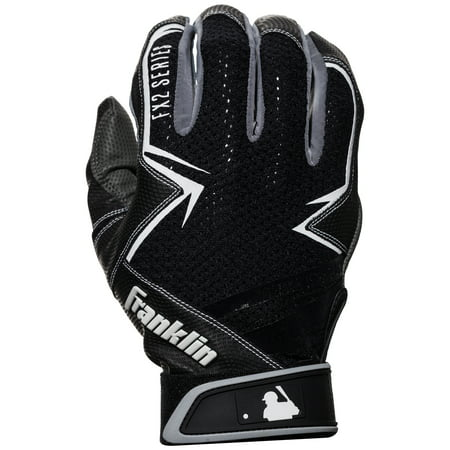 Franklin Sports MLB Freeflex 2 Batting Gloves - Black/White - Youth