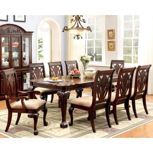 Napa 9 Piece Dark Cherry Finish Formal Dining Room Table: Furniture Of America Ranfort Formal 9-Piece Cherry Dining