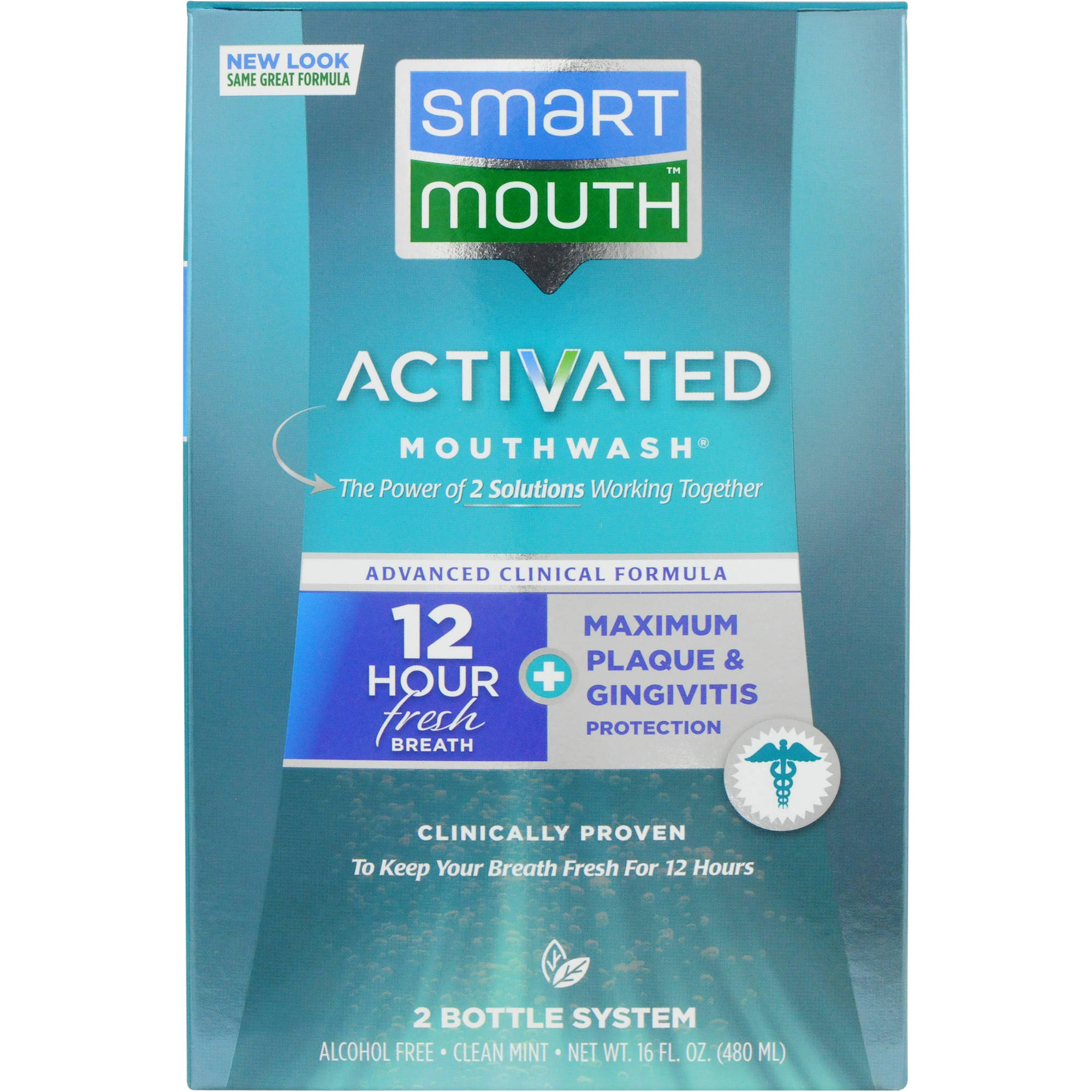 SmartMouth Advanced Clinical Formula Fresh Mint Activated Mouthwash, 16 oz