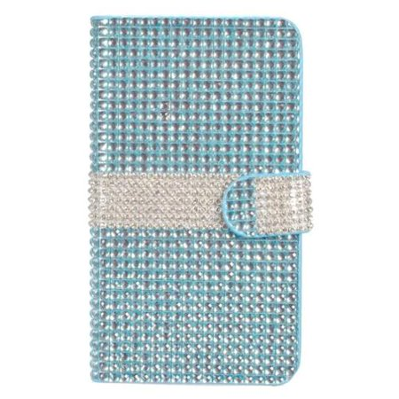 Insten Flip Wallet Leather Bling Phone Case with Card slot For Alcatel One Touch Fierce XL - Light (Alcatel One Touch Fierce Prepaid Cell Phone)