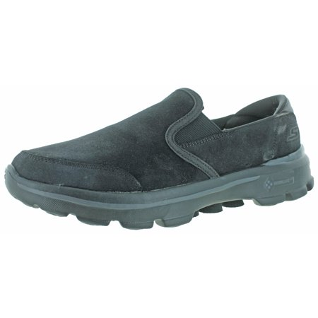 6d3791aa5a02 Skechers - Skechers Go Walk 3 Men s Leather Slip-On Casuals Shoes -  Walmart.com