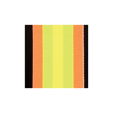 3/8' Craft Ribbon (Orange, Lime and Yellow Striped Woven Grosgrain Craft Ribbon 1 3/8