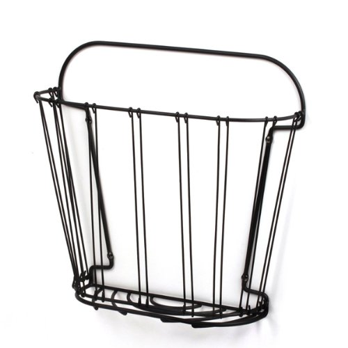Double Wire Wall-Mount Magazine Rack, Black, An attractive way to store magazines and periodicals By Spectrum Diversified