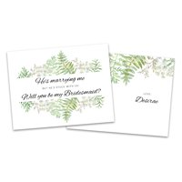 Personalized Funny Foliage Will You Be My Bridesmaid Invitation