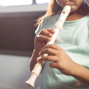 8 Holes High Pitch Soprano Recorder Flute ABS Instruments Reed Pipe Kids White, musical recorder, soprano recorder